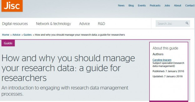 Research data management guide