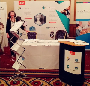 Jisc's stand at the ARMA conference 2016