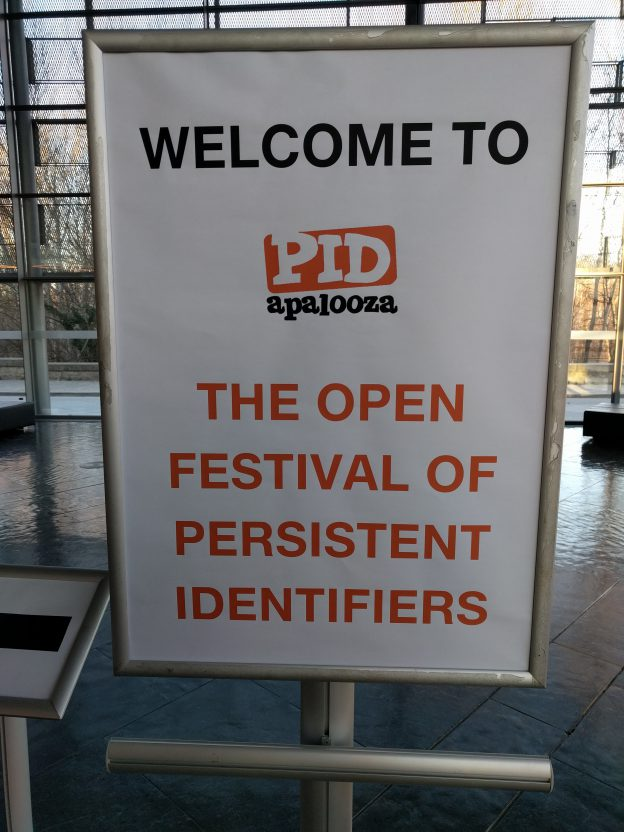 PIDapalooza18 welcome sign